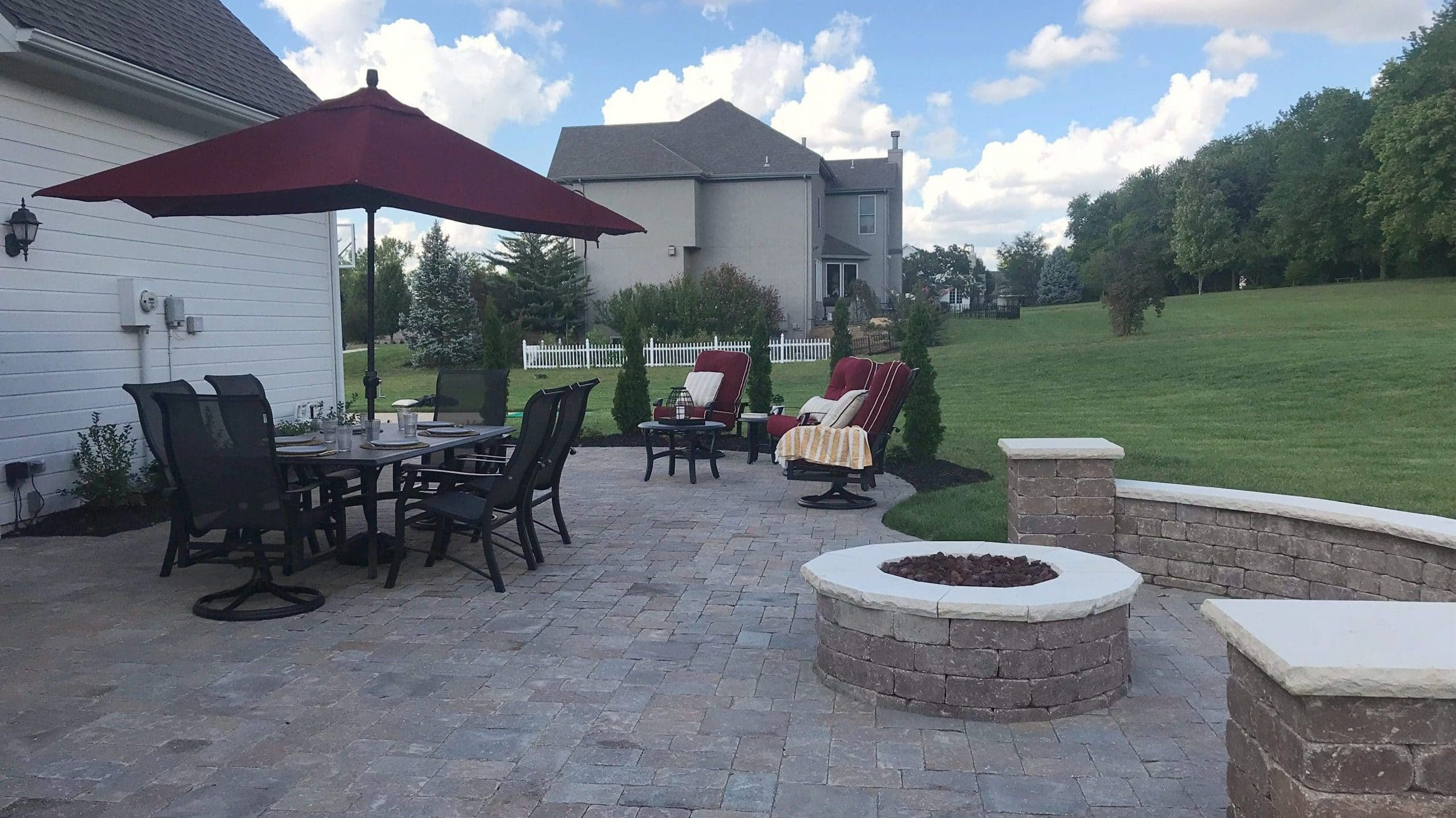 Patio and Fire Pit Combo