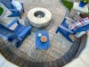 Aerial Paver Patio and Fire Pit