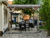 Pergola, Paver Patio, and Lighting