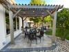 Lighting, Patio, and Pergola